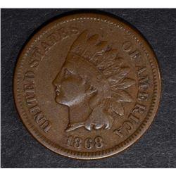 1868 INDIAN CENT, FINE