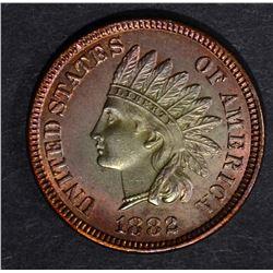 1882 INDIAN CENT, CH BU+