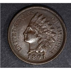 1891 INDIAN CENT, CH BU
