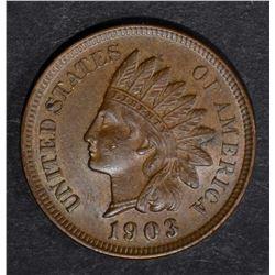 1903 INDIAN CENT, CH BU