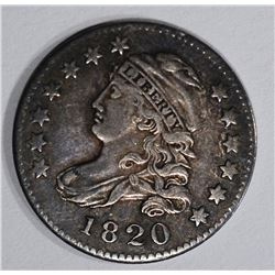 1820 CAPPED BUST DIME, VF