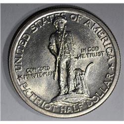 1925 LEXINGTON COMMEM HALF DOLLAR, AU