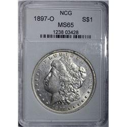 1897-O MORGAN DOLLAR, NCG GEM BU LOOKS AU/BU