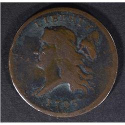 1793 LIBERTY CAP HALF CENT  VF