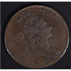 1804 DRAPED BUST LARGE CENT  AU/BU