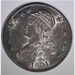 1831 CAPPED BUST HALF DOLLAR  AU/BU