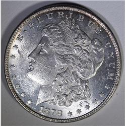 1878 8TF MORGAN DOLLAR BH