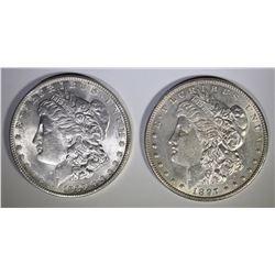 1889 & 97 MORGAN DOLLARS BU