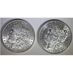 1897 & 98 MORGAN DOLLARS CH BU