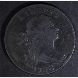 1798 DRAPED BUST LARGE CENT  F/VF