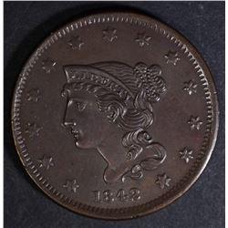 1842 N-2 LARGE CENT  CH BU+