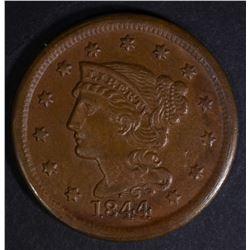 1844 LARGE CENT  CH AU