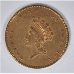 1855 T-2 $1 PRINCESS HEAD GOLD BU