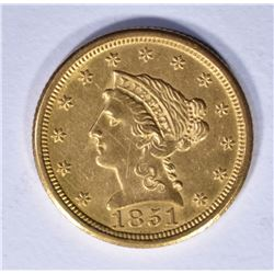 1851-O $2.50 GOLD LIBERTY BU RARE