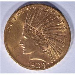 1909 $10 GOLD INDIAN GEM BU