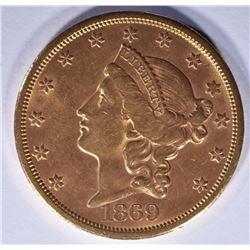 1869-S $20 GOLD LIBERTY BU RARE
