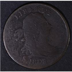 1808/7 DRAPED BUST HALF CENT  VG