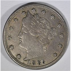 1885 LIBERTY V NICKEL  XF+