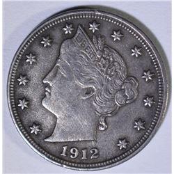 1912-S LIBERTY V NICKEL  XF
