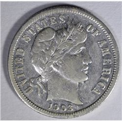 1903-S BARBER DIME  AU