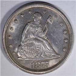 1875-S TWENTY CENT PIECE  BU