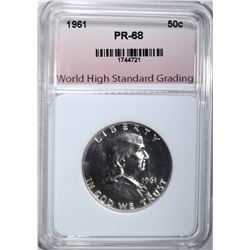 1961 FRANKLIN HALF DOLLAR WHSG SUPERB