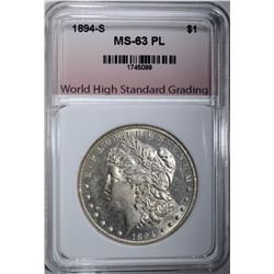 1894-S MORGAN DOLLAR WHSG CHOICE BU PL