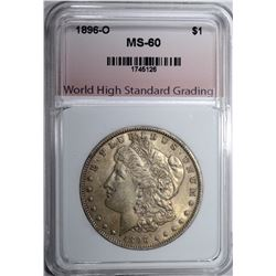 1896-O MORGAN DOLLAR WHSG BU