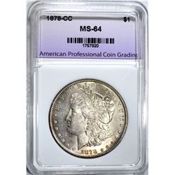 1878-CC MORGAN DOLLAR, APCG CH/GEM BU