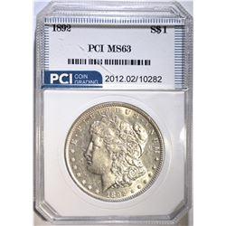 1892 MORGAN DOLLAR, PCI CH BU
