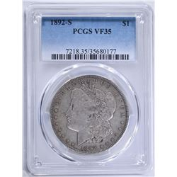 1892-S MORGAN DOLLAR PCGS VF35
