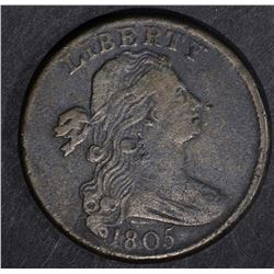 1805 LARGE CENT, VF