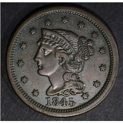 1845 LARGE CENT, XF