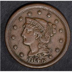 1846 LARGE CENT, VF/XF