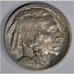 1913-D TYPE-1 BUFFALO NICKEL, CH BU