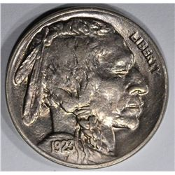 1923 BUFFALO NICKEL, GEM BU