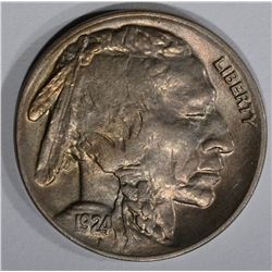 1924 BUFFALO NICKEL, GEM BU