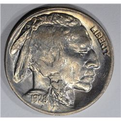 1928-D BUFFALO NICKEL, GEM BU