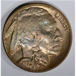 1929-D BUFFALO NICKEL, GEM BU