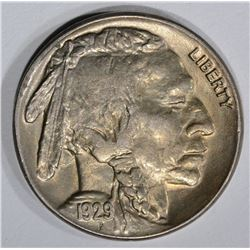 1929-S BUFFALO NICKEL, GEM BU