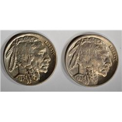 1936-D&S GEM BU BUFFALO NICKELS