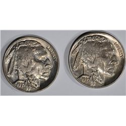 1937-D&S GEM BU BUFFALO NICKELS