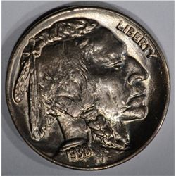 1938-D/D BUFFALO NICKEL, GEM BU