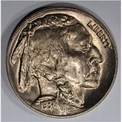 1938-D/S BUFFALO NICKEL, GEM BU