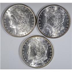 1884-O, 85-O & 85 CH BU MORGAN DOLLARS