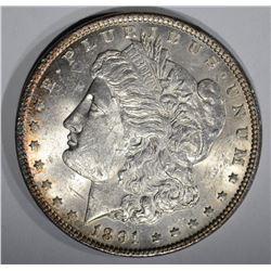 1891 MORGAN DOLLAR, CH BU