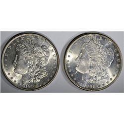 1898 & 1898-O CH BU MORGAN DOLLARS