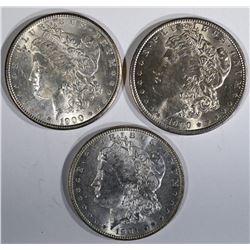 1900, 1900-O & 1901-O MORGAN DOLLARS CH BU