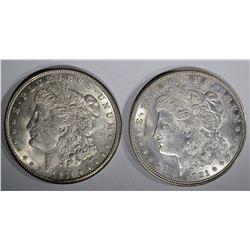 1921-D & 21-S MORGAN DOLLARS CH BU