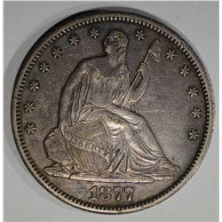 1877-CC SEATED HALF DOLLAR  CH BU